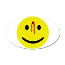 Dead Smiley 22x14 Oval Wall Peel