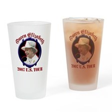 Queen Elizabeth 2007 US Tour Drinking Glass