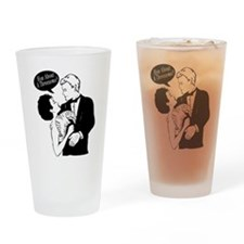 How About A Threesome Drinking Glass