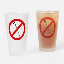 No More Hoes Drinking Glass