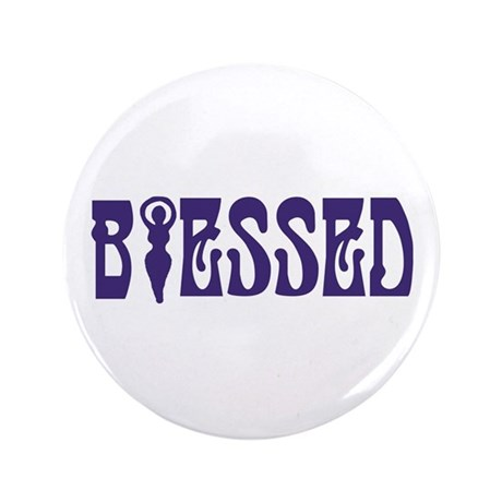 """Blessed 3.5"""" Button (100 pack)"""