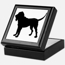 Bloodhound Silhouette Keepsake Box