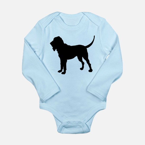 Bloodhound Silhouette Long Sleeve Infant Bodysuit