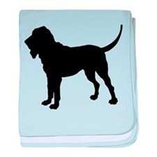 Bloodhound Silhouette baby blanket