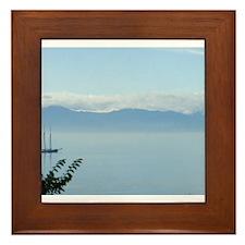 Sailboat Morning Calm Framed Tile
