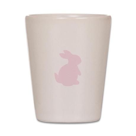 Valentines Day Pink Rabbit Shot Glass