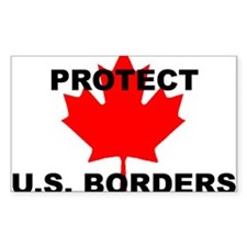 Protect U.S. Borders Rectangle Decal