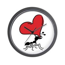 Ant Caring LOTS of LOVE Wall Clock