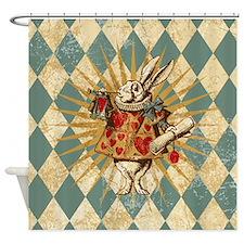 Funny White rabbit Shower Curtain