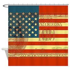 Hundred dollar bill Shower Curtain