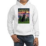 Blessed to be Free Black Lab Hooded Sweatshirt