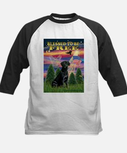 Blessed to be Free Black Lab Kids Baseball Jersey