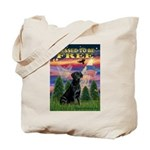 Blessed to be Free Black Lab Tote Bag