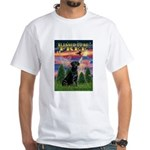 Blessed to be Free Black Lab White T-Shirt