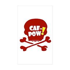 Caf-Pow Skull Decal