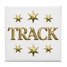 Track Stars Tile Coaster