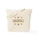 Skiing Stars Tote Bag