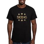 Skiing Stars Men's Fitted T-Shirt (dark)
