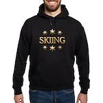 Skiing Stars Hoodie (dark)