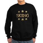 Skiing Stars Sweatshirt (dark)