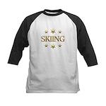 Skiing Stars Kids Baseball Jersey