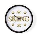 Skiing Stars Wall Clock