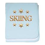 Skiing Stars baby blanket