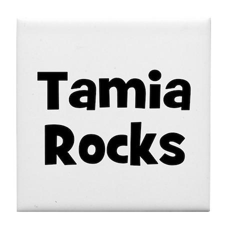 Tamia Rocks Tile Coaster