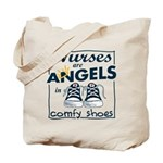 Nurses Are Angels Tote Bag