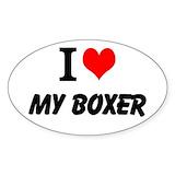 Boxer dog sticker Single
