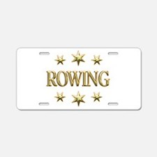 Rowing Stars Aluminum License Plate