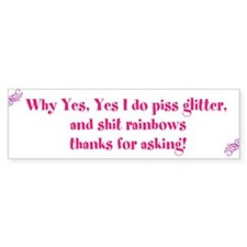 glitter and rainbow sticker Bumper Bumper Sticker