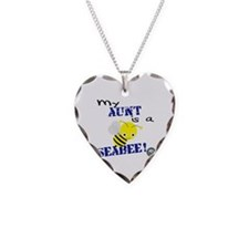 Aunt is a SeaBee Necklace Heart Charm