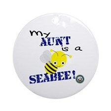 Aunt is a SeaBee Ornament (Round)