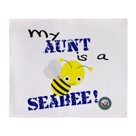 Aunt is a SeaBee Throw Blanket
