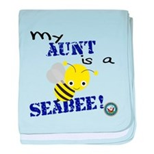 Aunt is a SeaBee baby blanket