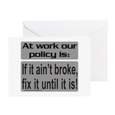 IF IT AIN'T BROKE Greeting Cards (Pk of 10)