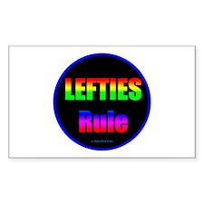 Lefties Rule Lefty Decal