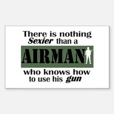 Nothing Sexier-Airman and his Sticker (Rectangular