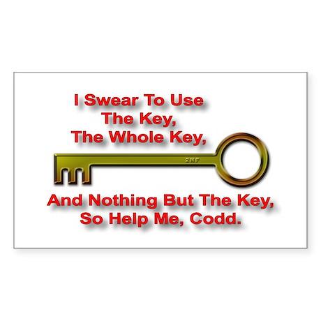"""The Key Rule"" Rectangle Sticker"