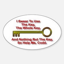 """""""The Key Rule"""" Oval Decal"""