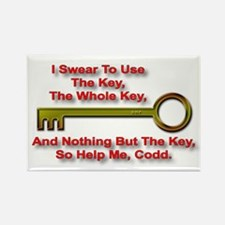 """The Key Rule"" Rectangle Magnet"