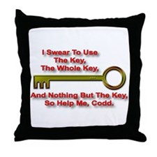 """""""The Key Rule"""" Throw Pillow"""