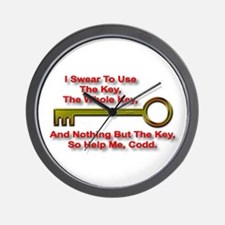 """The Key Rule"" Wall Clock"