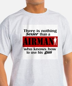 Nothing Sexier-Airman and his Ash Grey T-Shirt