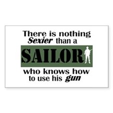Nothing Sexier-Sailor and his Sticker (Rectangular