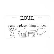 Noun Aluminum License Plate