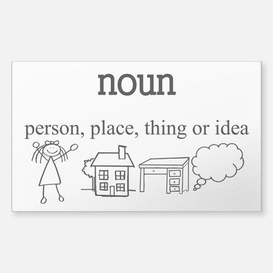 Noun Sticker (Rectangle)