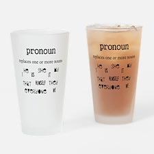 Pronoun Drinking Glass
