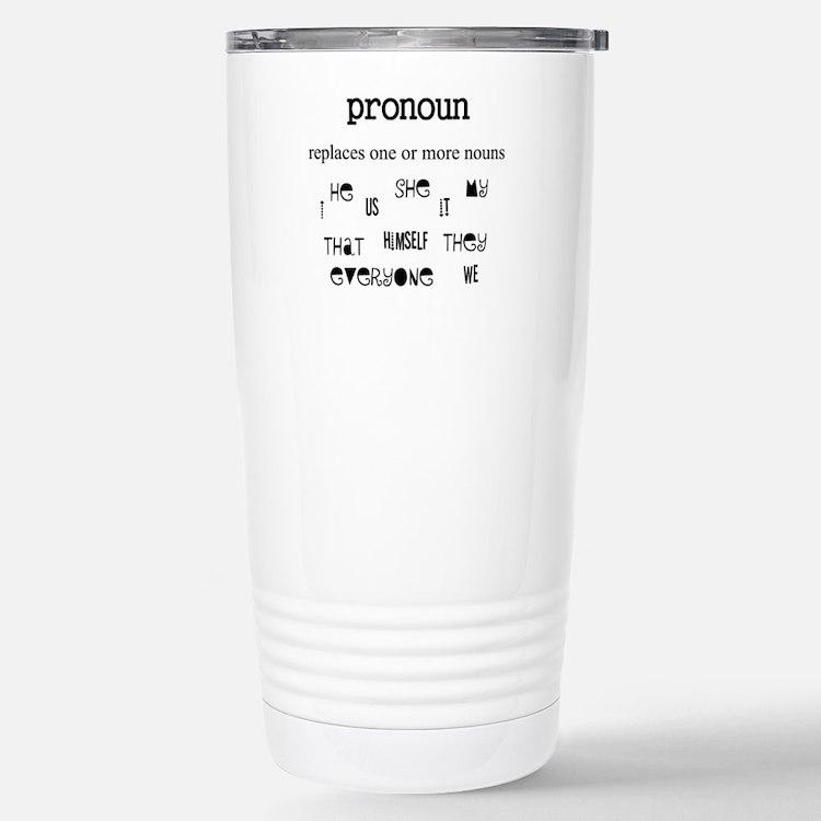 Pronoun Travel Mug